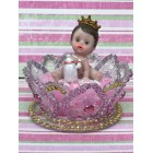 Prince Boy or Princess Girl on Tiara Crown Baby Shower Favor Decoration Cake Topper