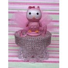 Baby Shower Pink Girl Owl Party Cake Topper Centerpiece Decoration