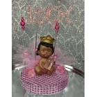 Ethnic Baby Princess It's a Girl Cake Topper Centerpiece Decoration
