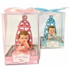 "Gender Reveal Boy & Girl Baby Shower Party Favor 2 Figurines Keepsake Decoration 3"" H"