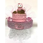 Ethnic Baby Girl with Owl Cake Topper Centerpiece