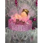 Sleeping Princess Baby Girl Baby Shower Cake Topper Centerpiece Decoration