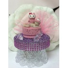Owl Baby Shower Pink Cake Topper