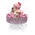 Baby Shower Girl with Teddy Bear Cake Topper Centerpiece Decoration
