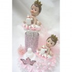 Princess-Prince Twins Cake Topper Centerpiece Baby Shower Decoration