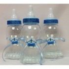 Plastic Baby Blue Bottle Prince Centerpiece