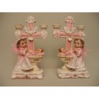 Angel Girl Candle Holder Figurine Centerpiece