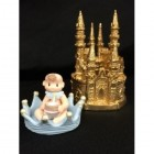 Baby Shower Castle with Blue Boy Prince Centerpiece Decoration