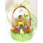 Baby Shower Baby Girl Giraffe Cake Topper or Centerpiece