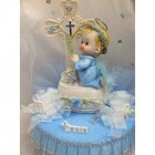 Christening Boy Cross Cake Topper