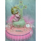 Christening Girl Cross Cake Topper