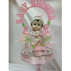 Baby Shower Girl Pink Cake Topper Centerpiece Decoration