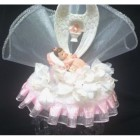 Angel Wings Christening Keepsake Cake Topper