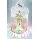 Baby Girl with Cross Christening Cake Topper Figurine