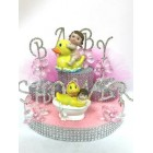 Rhinestone Baby Shower Ducky Cake Topper or Centerpiece