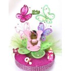 Baby Shower Ethnic Baby Girl on Butterfly Cake Topper or Centerpiece Keepsake