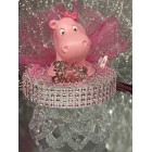 Baby Shower Pink Hippo Girl Cake Topper Centerpiece