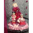 Pink Pirate Girls Baby Shower Cake Topper Centerpiece Decoration