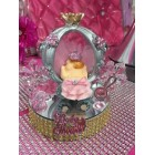 Baby Shower Pink Princess Carriage Cake Top Centerpiece