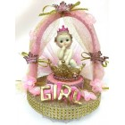 Baby Shower Princess In Crown Centerpiece or Cake Topper