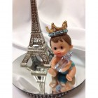Baby Prince With Eiffel Tower Paris Theme Cake Topper