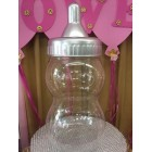 Silver Baby Jumbo Fillable Baby Shower Baby Bottle Centerpiece Cake Topper Decoration