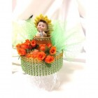 Sunflower Baby Cake Topper or Centerpiece
