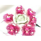 12 Fuchsia Baby Girl Baby Shower Capia Favor Corsage Chest Favors