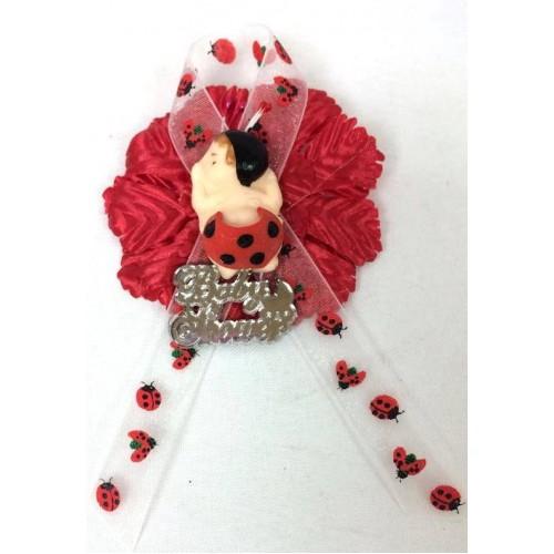 baby shower ladybug corsage