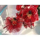 12 Ethnic Ladybug Capias or Corsages Party Favor Cake Decorations