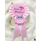 Pink Owl Girl Badge Corsage Baby Shower