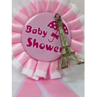 Paris Eiffel Tower Baby Shower Badge It's a Girl Corsage