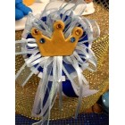 Baby Shower Blue Baby Prince Crown Badge Favor