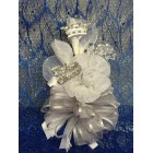 Silver Princess Girl Crown Corsage Its a Girl Mom to Be Keepsake