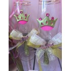 Baby Shower Princess Theme Toasting Glasses Party Supplies