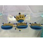 Blue Prince Princess Crown Embellishment Party Favor Decoration Capia Chest Favors 12 Ct