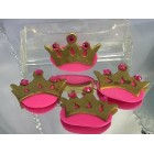 Pink Princess Crown Embellishment Party Favor Decoration Capia Chest Favors 12 Ct