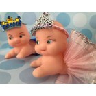 Baby Princess or Prince Cupid Doll Baby Shower 1st Birthday Cake Decoration