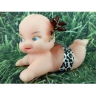 Baby Girl or Boy Cheetah Theme Cupid Doll Cake Decoration Favor Gift Ideas