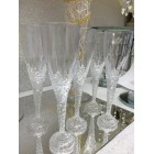 "8"" Clear Plastic Party Flute Champagne Cups (12 count) Wedding , Sweet 16, Anniversary, Mis Quince , Birthdays , All Occasions"
