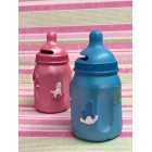 Baby Bottle Coin Bank Keepsake Favor Baby Shower Cake Topper Gift