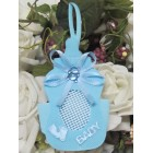 Blue Baby Bottle Boy Tote Favor Bags 10 Ct