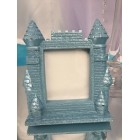 Blue Castle Picture Frame Favor Gift Keepsake for Prince Princess Birthday Baby Shower