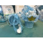 Mini Metal Pale Bucket Baby Shower Prince It's a Boy Party Favors