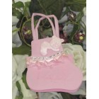 Pink Baby Bottie Tote Favor Bags 10 Ct