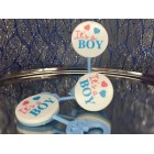 12 Baby Shower Blue Baby Rattler Favor Keepsakes