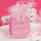 Pink Girl Baby Shower Favor Bag