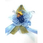 Baby Shower Blue Ethnic Baby Prince Badge Favor