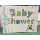 Baby Shower Bear Quilt It's a Boy Signature Guest Book Keepsake Gift