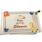 Baby Butterfly Rhinestone Guest Book